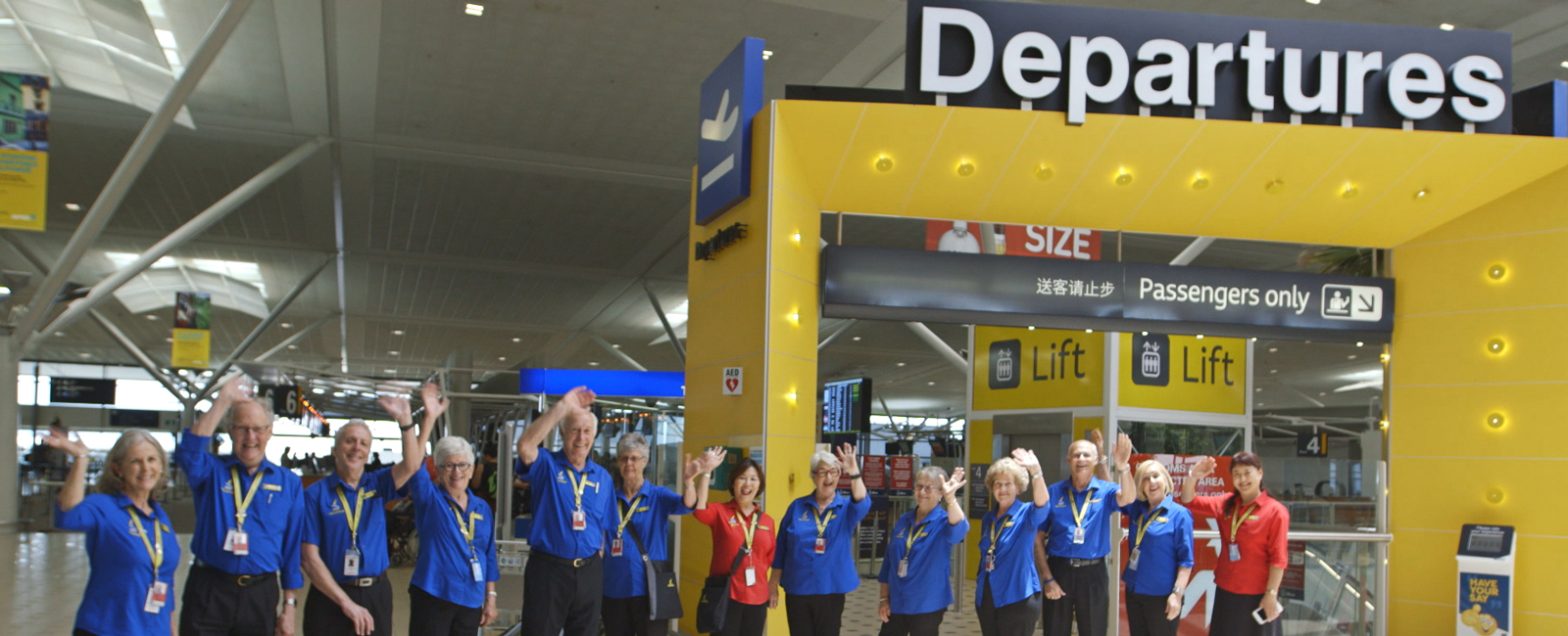 Vicki and her fellow Airport Ambassadors