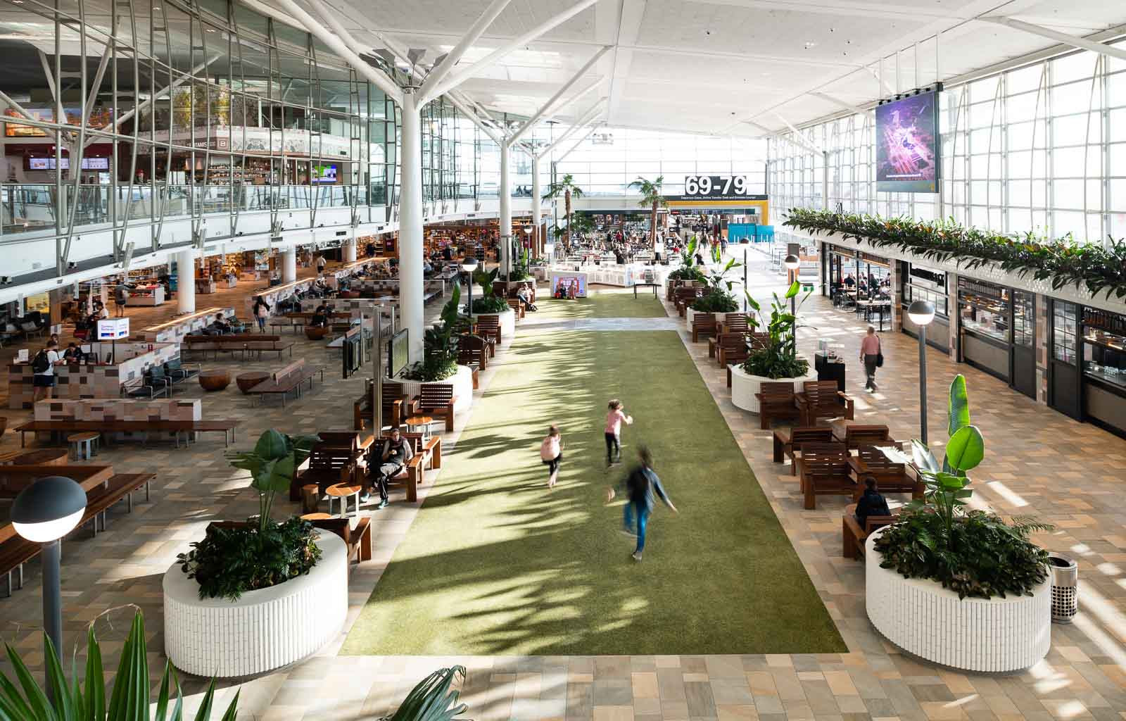 The Village Green at the International Terminal Brisbane | How to prepare for a long-haul flight