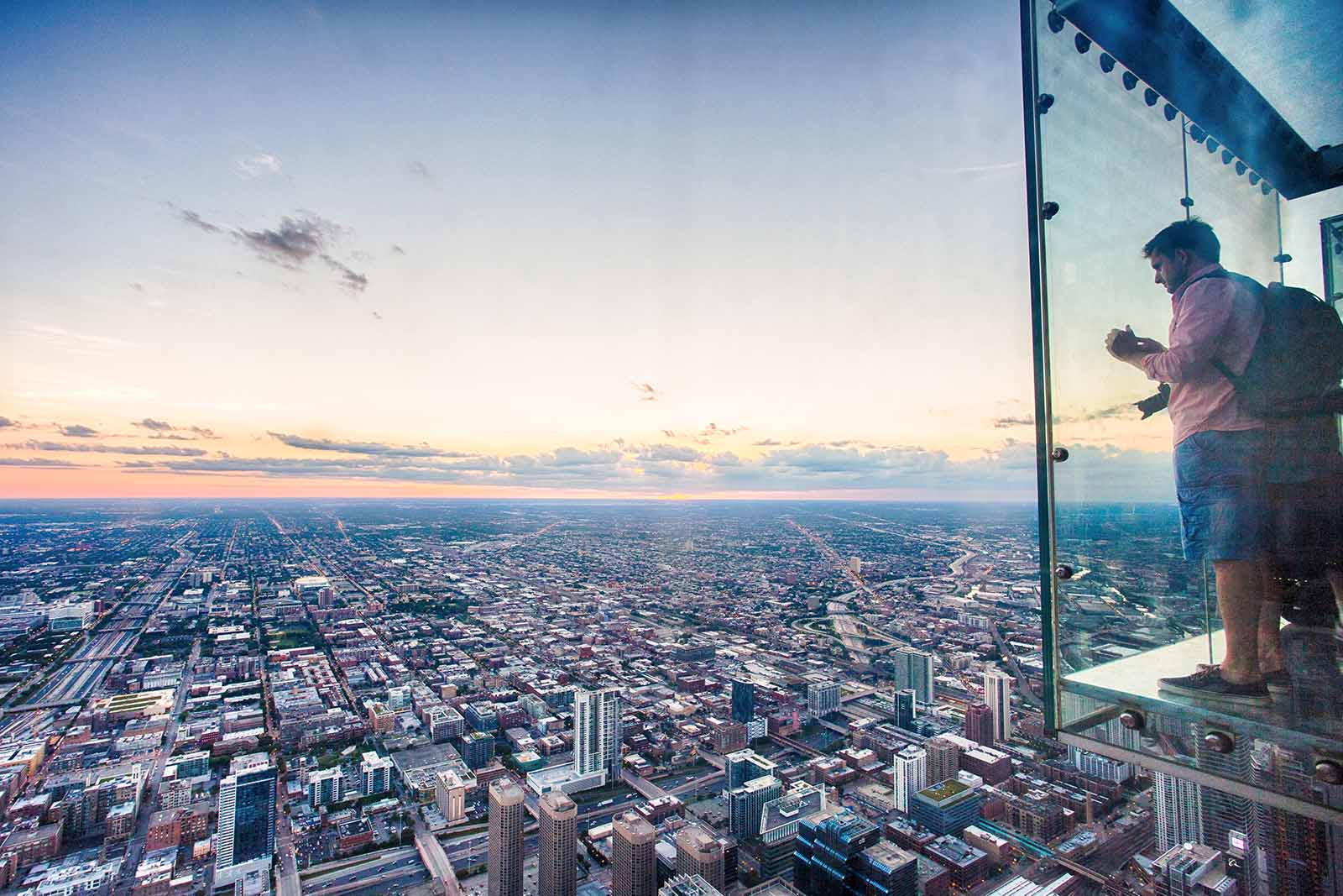 If you're brave, step out on The Ledge of Willis Tower, Chicago | First time to Chicago? 11 spots you can't miss