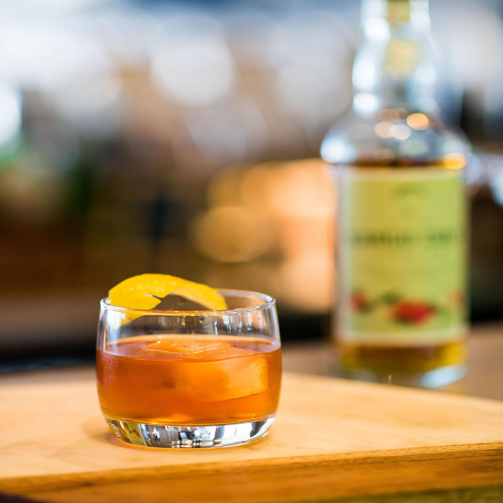 Rum Old Fashioned at Aviation Pier Cafe and Bar, Domestic Terminal