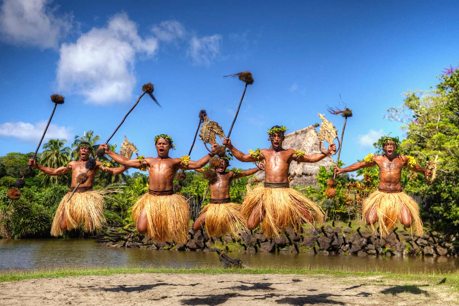 Traditional Dancers in Fiji