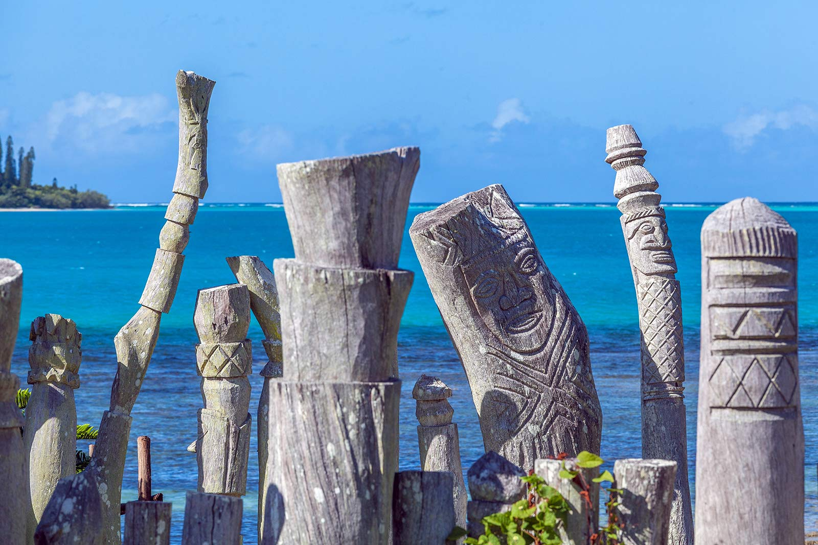 Isle of Pines totems in New Caledonia