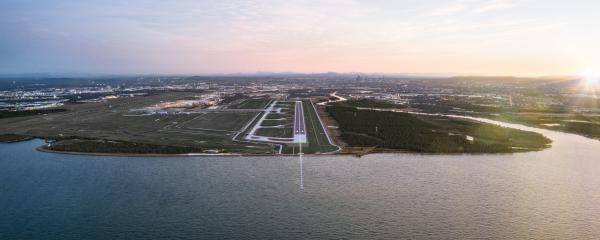 Brisbane new runway render