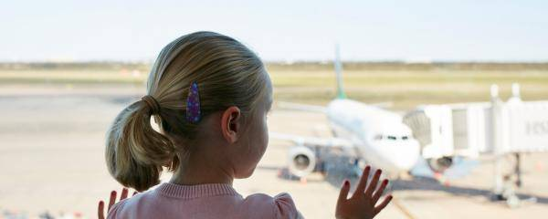 Plane spotting with children
