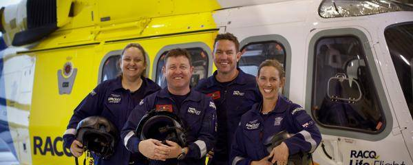 The Brisbane-based RACQ LifeFlight Rescue crew flew 508 critical missions in FY19