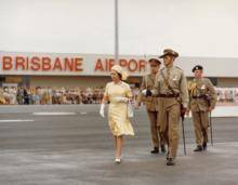 HRH Queen Elizabeth at Brisbane Airport 1977