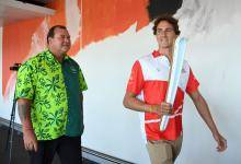 Queens Baton Relay Brisbane Airport