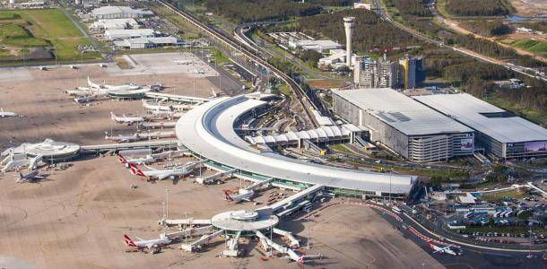 Brisbane Airport Domestic Terminal Aerial Dec 2016