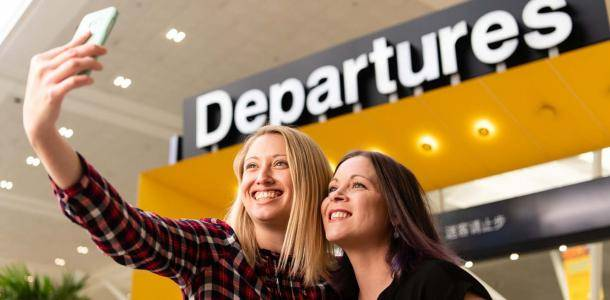 It's not a holiday if you didn't take a selfie in front of the departures gate at the International Terminal Brisbane?