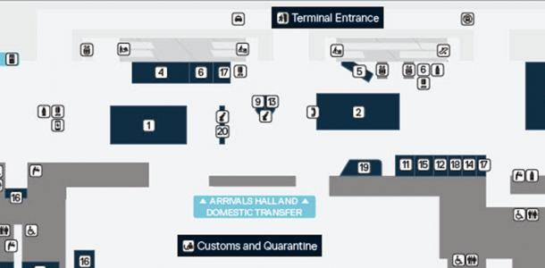Brisbane Airport International Terminal Map