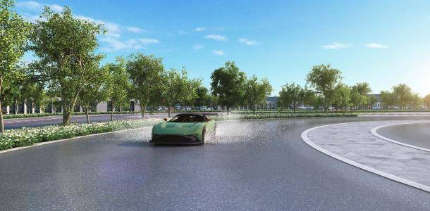 Artists' impression of the Skid Pan
